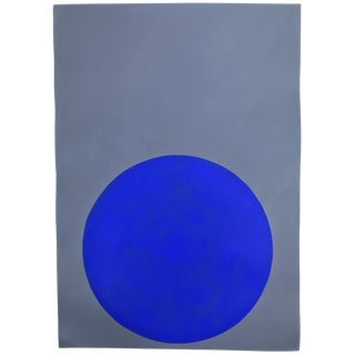 "Stephanie Henderson ""Ultramarine Dot on Elephant Gray"" Painting"