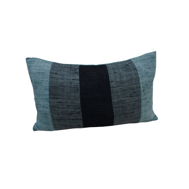 Blue Striped Decorative Pillows : Blue Striped Throw Pillow Chairish