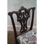 Image of Honduras Mahogany Carved Dining Chairs - Set of 8