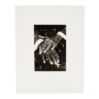 "Vintage ""Hands of Maria"" B&W Photograph"