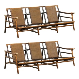 Rare Restored Sofa by John Wisner for Ficks Reed- Four Available