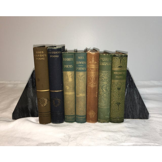 Image of Antique Poetry Books - Set of 7