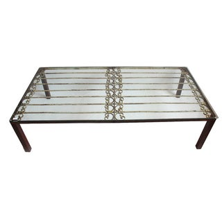 Vintage Iron Gate Coffee Table