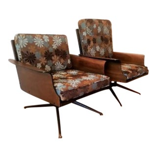 Baumritter Mid-Century Modern Bent Plywood 'Viko' Lounge Chairs- A Pair