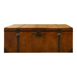 Rectangular Leather Manchester Storage Trunk