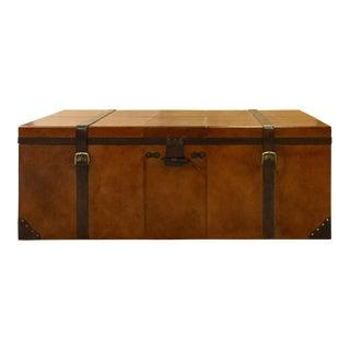 Rectangular Leather Manchester Storage Trunk