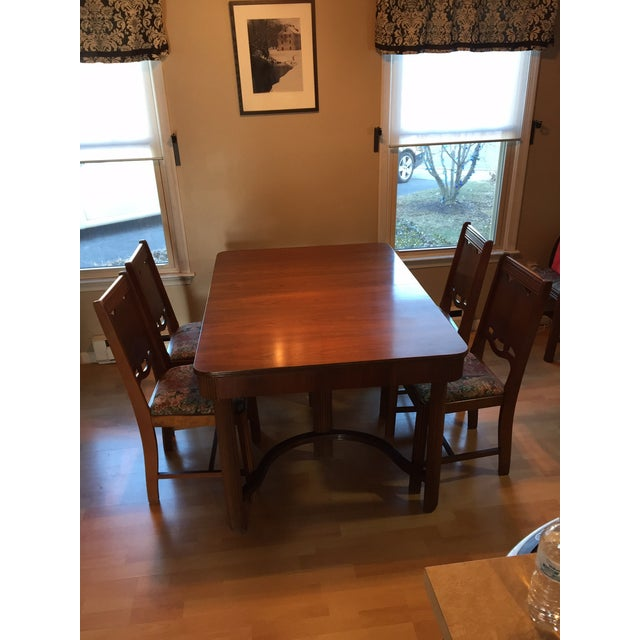 1940's Waterfall Dining Table Set - Image 5 of 5