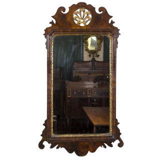 Queen Anne Walnut Mirror
