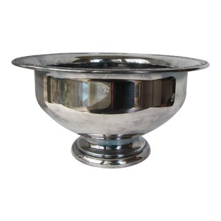 Large Silver-Plate Serving Bowl