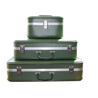 Vintage 3-Piece Nesting Suitcases