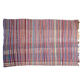 """Vintage Striped Kilim Rug - 4'5"""" x 7'"""