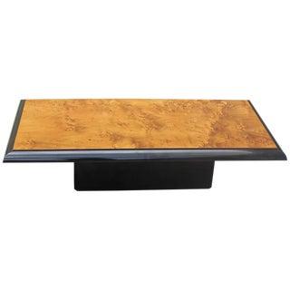 French Art Deco Burl Wood Coffee Table