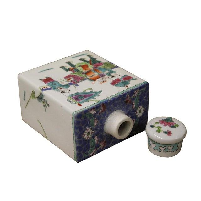 Chinese Colorful Porcelain Tea Jar - Image 6 of 6