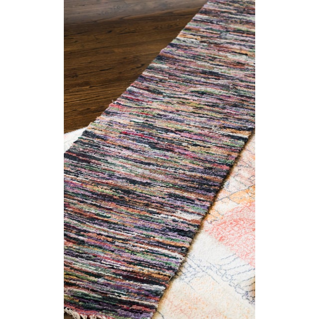 Swedish Vintage Handwoven Rug - 2′4″ × 10′2″ - Image 4 of 5