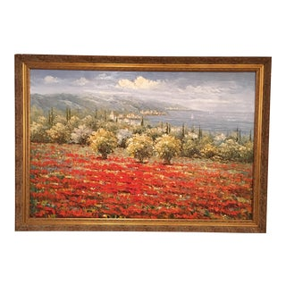 Oil on Canvas - Poppy Fields in Tuscany
