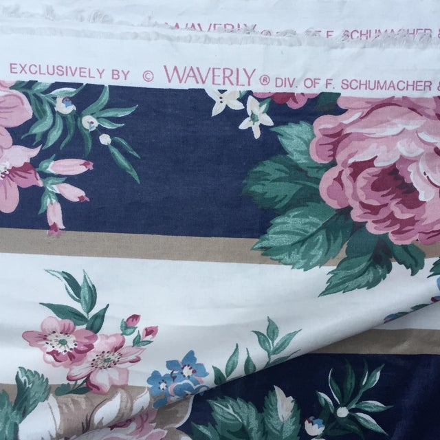 Vintage Schumacher Floral Chintz Fabric - 4.66 Yards - Image 4 of 9