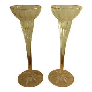 Mikasa Crystal Candle Holders - A Pair