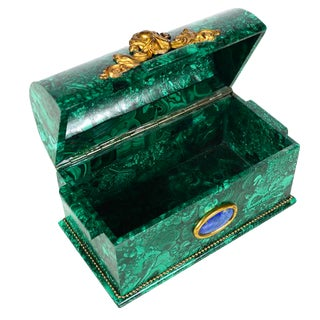 Russian Malachite Domed Coffin Box