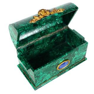 Russian Malachite Domed Coffin Box