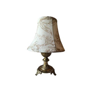 Swedish Gustavian Style Lamp With Country Shade