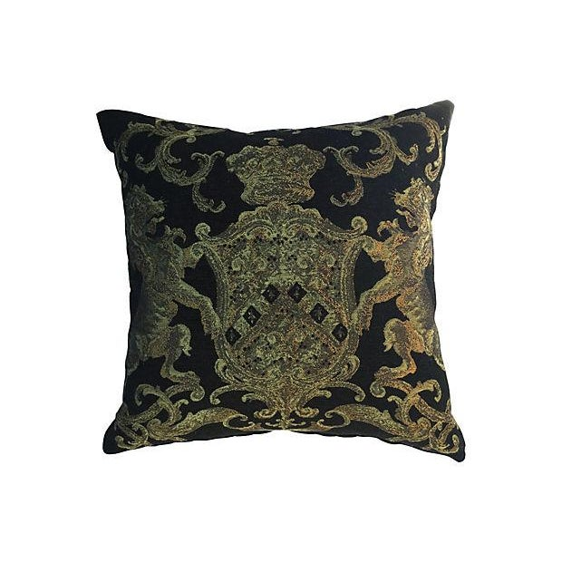 English Coat of Arms Pillow - Image 1 of 5