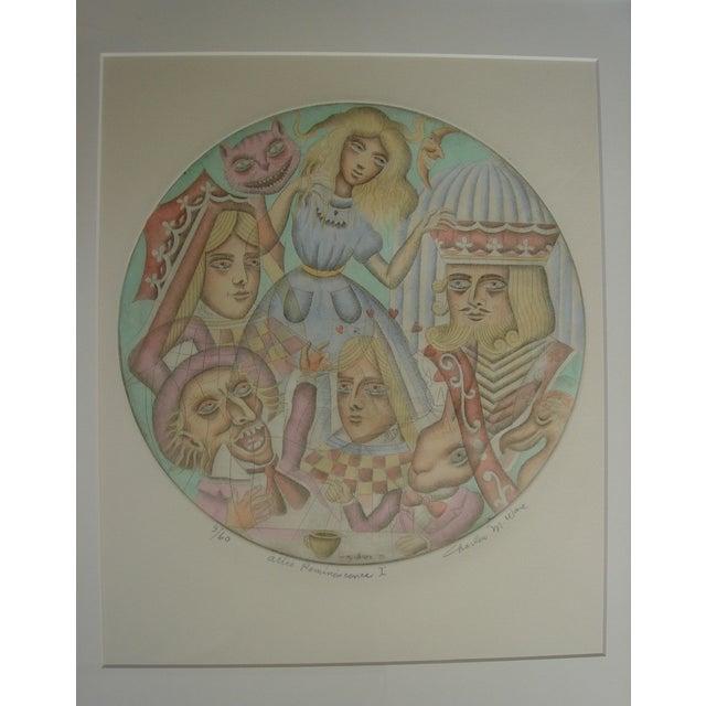 Alice in Wonderland 1971 Original Framed Print - Image 4 of 5