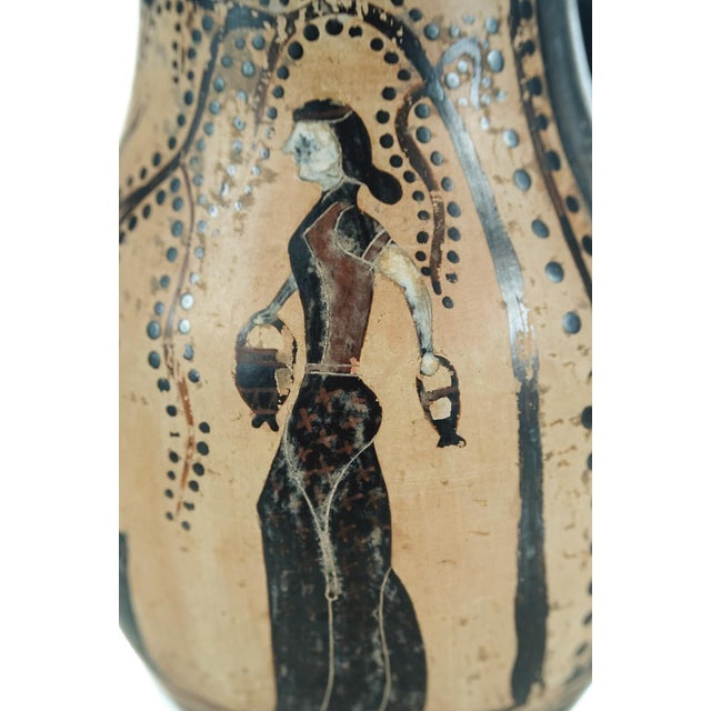 Ancient Greece Pottery Vase with Black Figure - Image 4 of 9