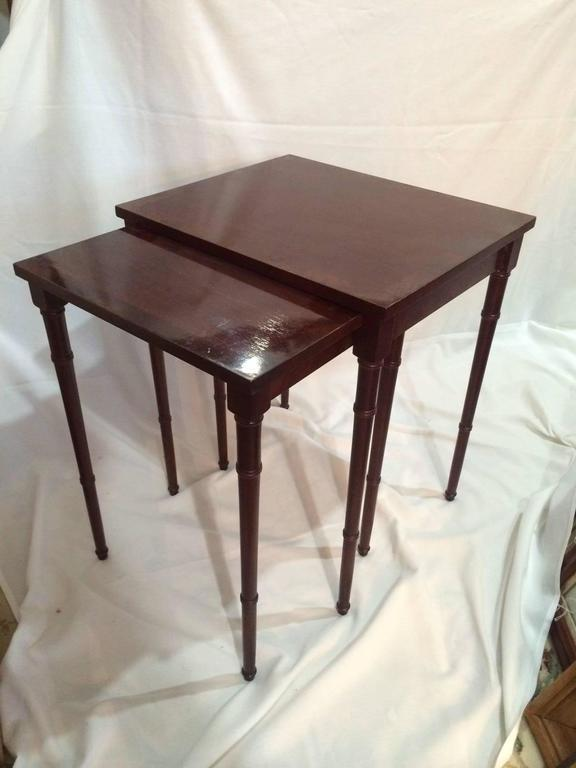 Vintage Baker Nesting Tables   A Pair   Image 8 Of 8
