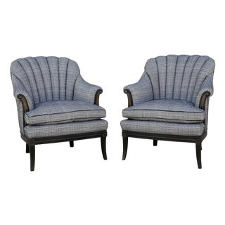 Hollywood Regency Channel Back Chairs - A Pair