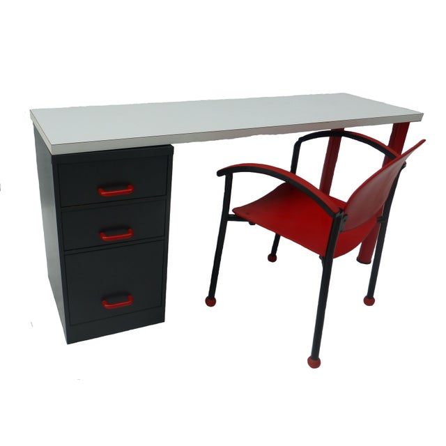 1980's Memphis Style Desk and Chair - Image 1 of 7