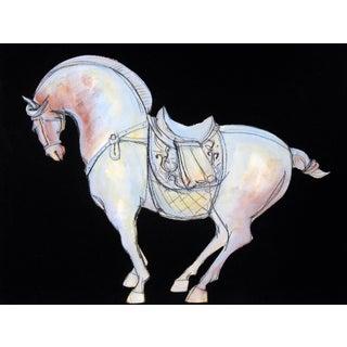 Tang Blue Rust Horse II Painting by Heidi Lanino