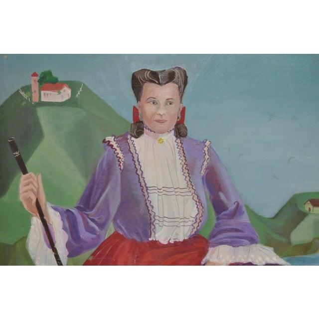 Nancy Larsen Vintage Oil Painting, C.1940's - Image 4 of 6