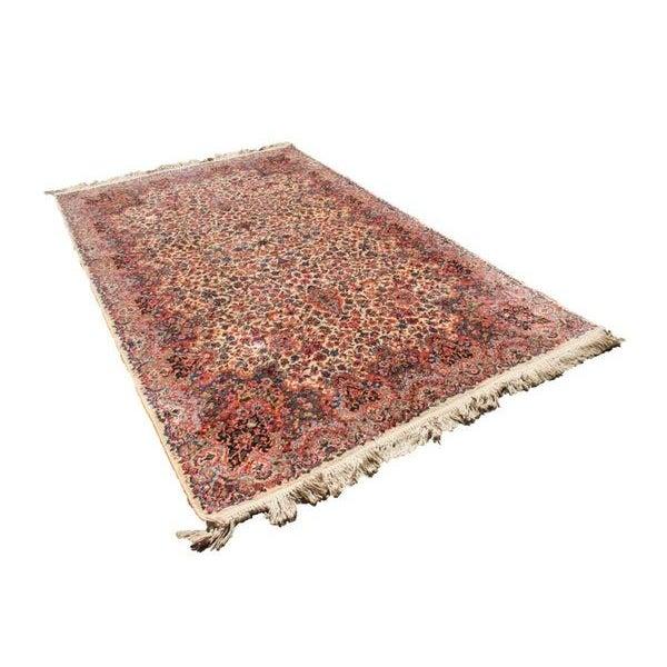 """Antique Karastan Kirman Wool Rug - 5′8″ x 9′7"""" - Image 1 of 5"""