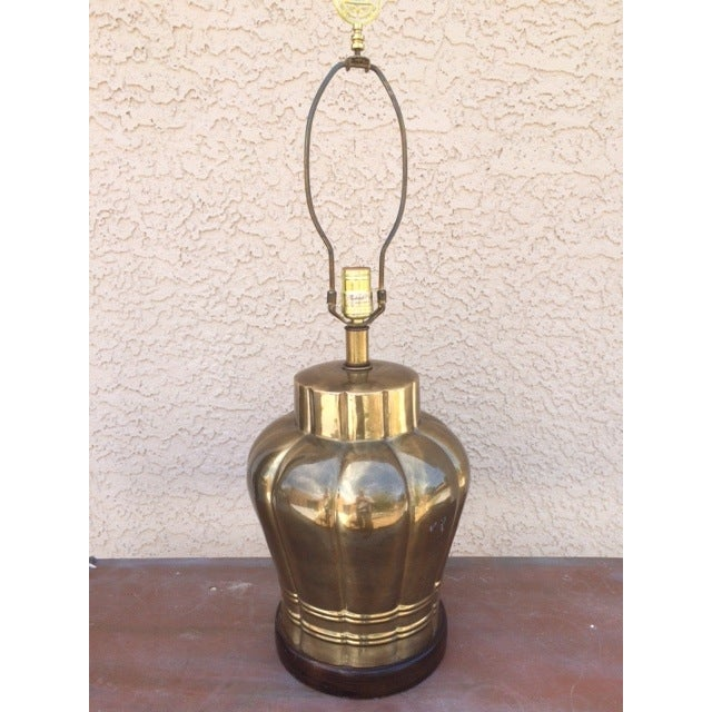 Large Vintage Brass Table Lamp - Image 2 of 3