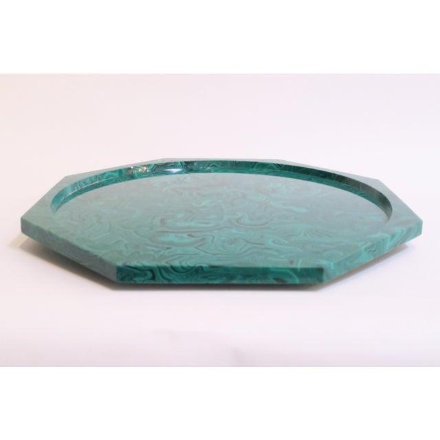 Plastic Malachite Lazy Susan Tray - Image 4 of 5
