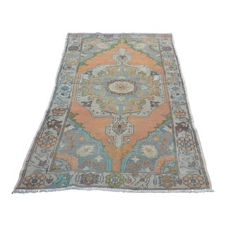 Turkish Anatolian Decorative Faded Rug - 4′2″ × 7′5″
