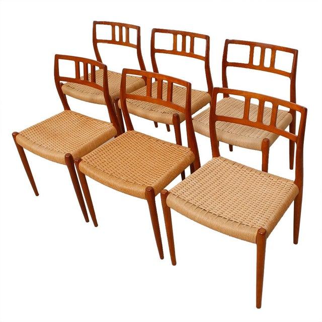 Danish Modern Teak Niels Moller #79 Chairs - S/6 - Image 1 of 7