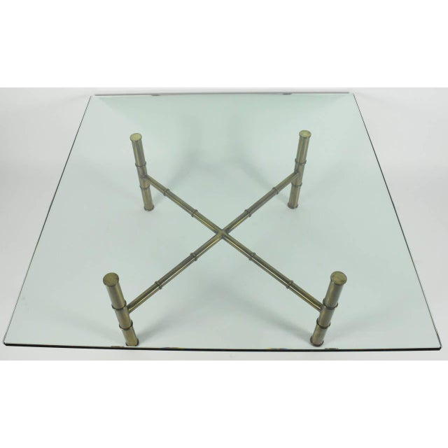 Faux Bamboo Coffee Table Attributed to Mastercraft - Image 4 of 8