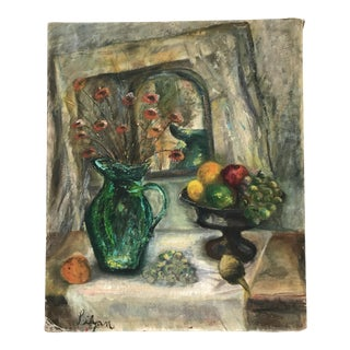 1950s Still Life With Green Pitcher