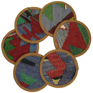 Kilim Safran Coasters - Set of 6