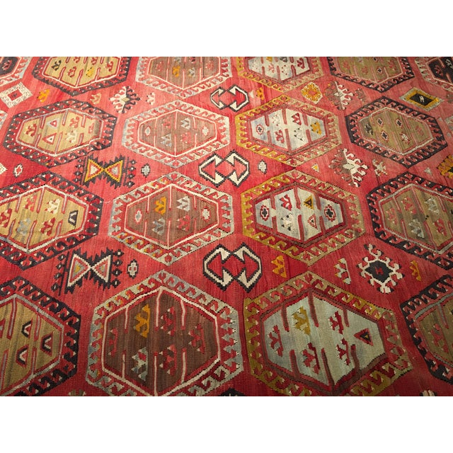 "Bellwether Rugs Vintage Turkish Kilim Rug - 8'3"" x 10'8"" - Image 4 of 11"