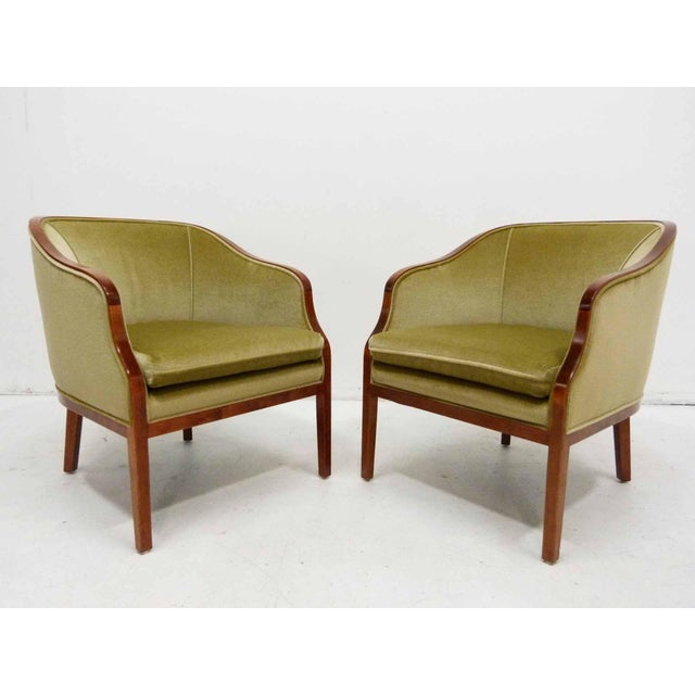 Ward Bennett Mohair Club Chairs - Pair - Image 2 of 10