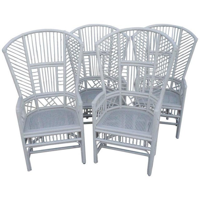 Brighton Pavilion High Back Rattan Chinese Chippendale Chairs - Set of 4 - Image 11 of 11