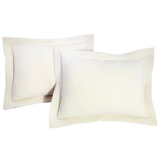 Ivory Baby Alpaca Pillows - A Pair