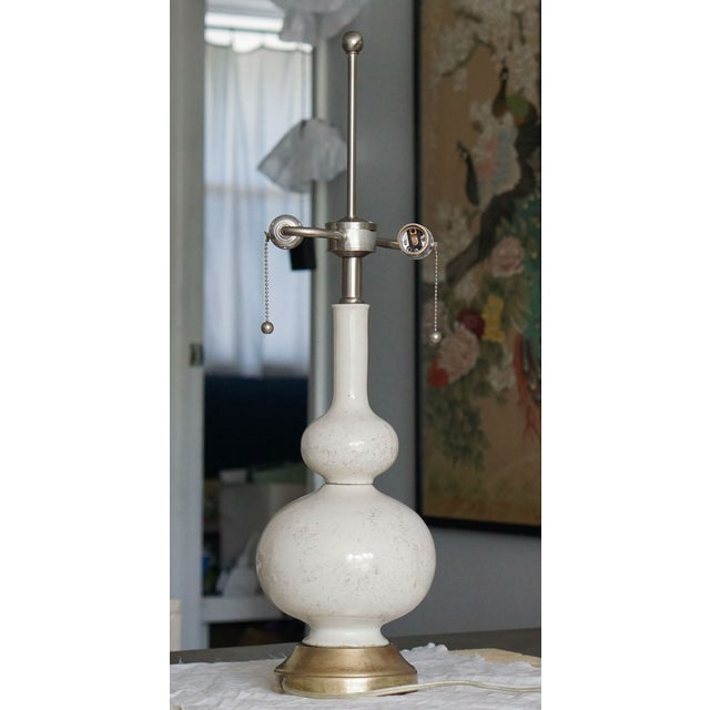 Image of White & Gold Vintage Leaf Table Lamp