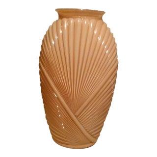 Antique 1940's Peach Glass Vase
