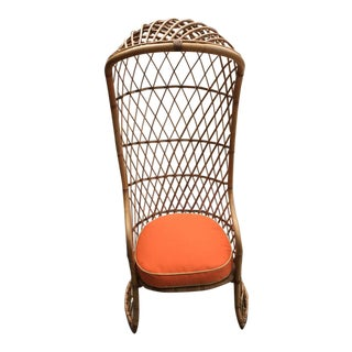 Vintage Rattan/Bamboo Porter Dome Chair