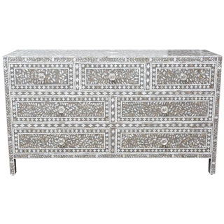 Floral Mother of Pearl Dresser