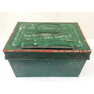 Green New York Antique Cash Box