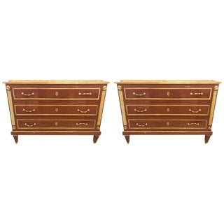 Pair of Bronze Mounted Step Up Commodes in the Russian Neoclassical Style